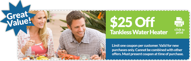 $25 off central florida tankless propane water heater