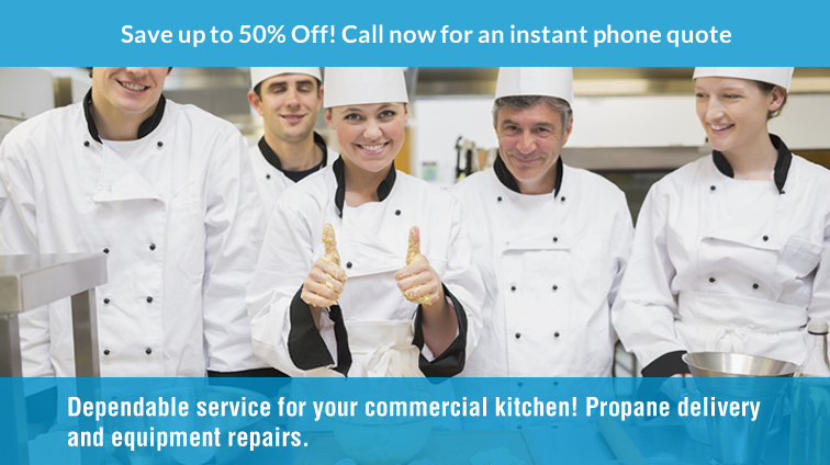 save 50% propane delivery commercial kitchen